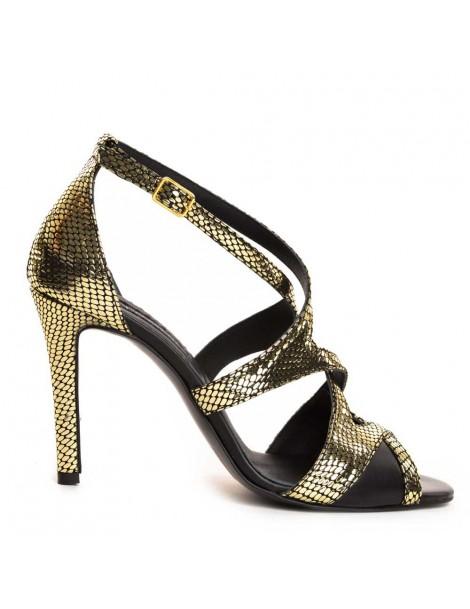 Sandale dama Auriu Isabela...