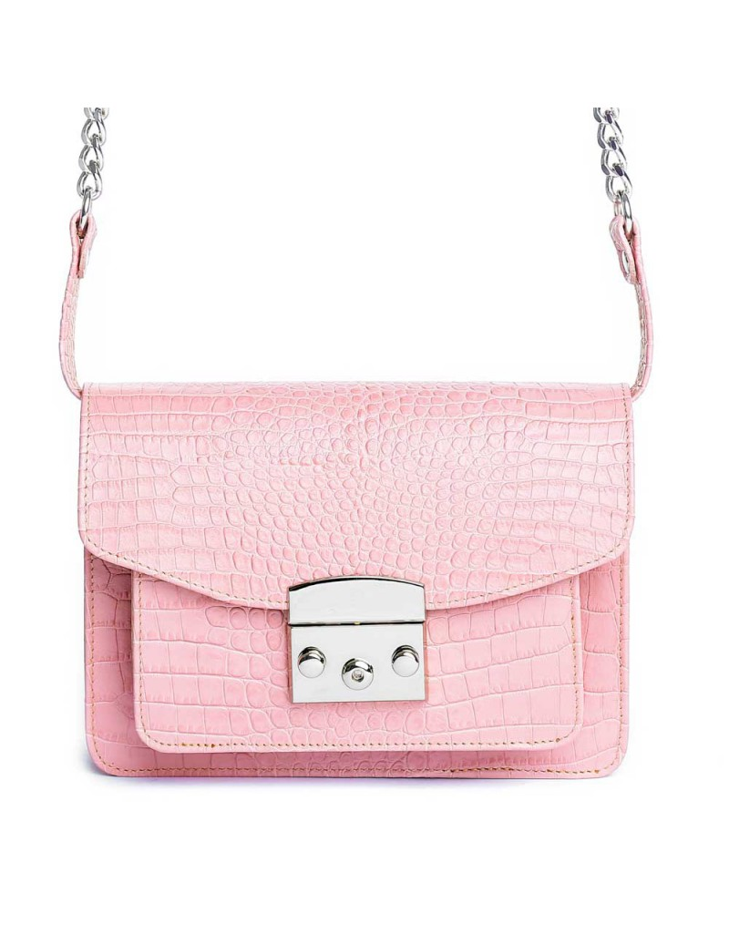Geanta Piele Naturala Dama Urban Bag Rose Croco - The5thelement.ro