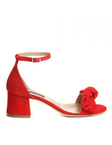 Sandale dama Zoe Rosu Piele...
