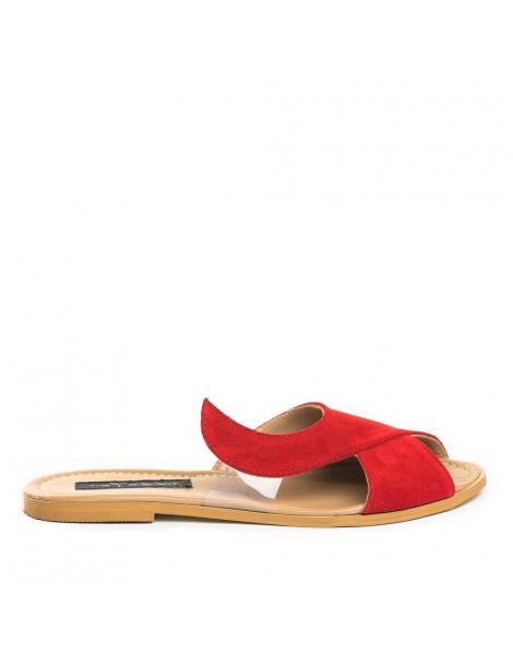 Papuci dama Rosu Gaia Piele...