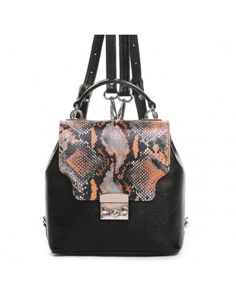 Geanta Dama Piele Naturala Minimal Backpack Orange - The5thelement.ro