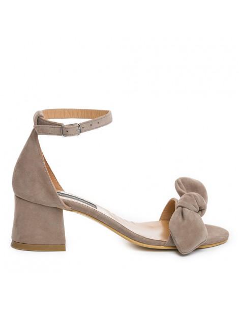 Sandale dama Zoe Grej Piele...