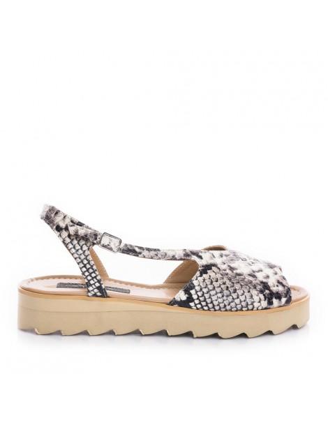 Sandale dama Romy Gri Snake...
