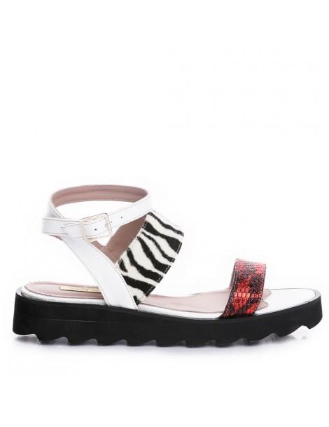 Sandale dama Alb Bay Piele...