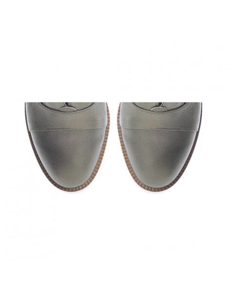 Pantofi dama Sport Green Metalic din Piele Naturala - The5thelement.ro