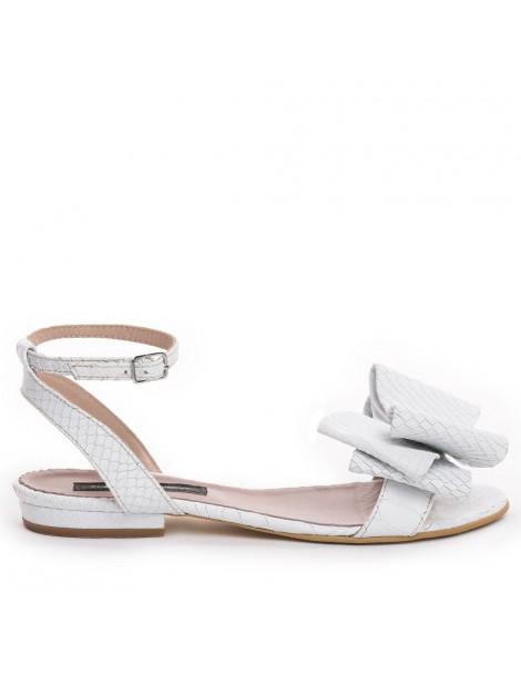 Sandale dama Lia Alb Snake...