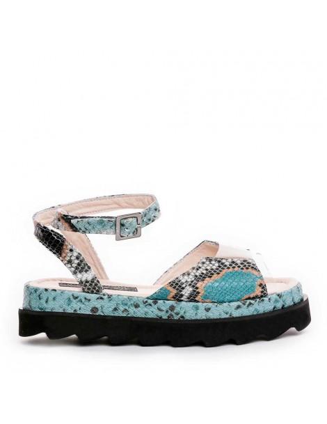 Sandale dama Turcoaz Snake...