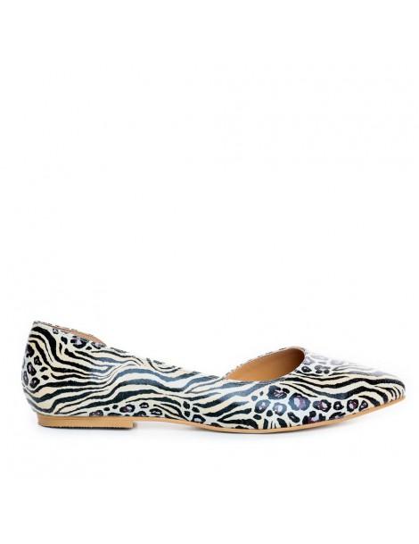 Balerini dama Bej Zebra...