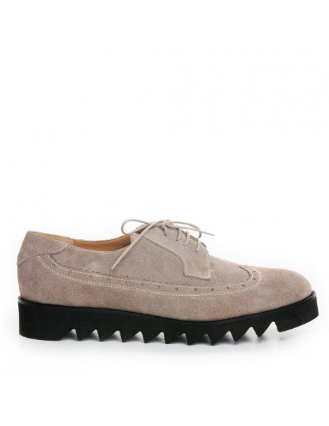 Pantofi dama Oxford Grej...