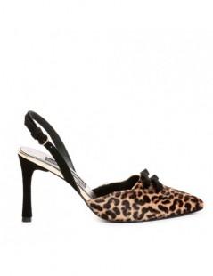 Pantofi Stiletto Piele Naturala Animal Print Lola - The5thelement.ro