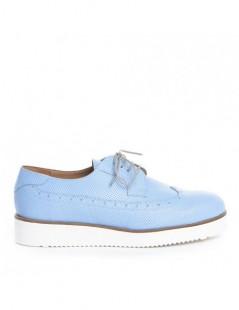 Pantofi dama Oxford Bleu din Piele Naturala - The5thelement.ro