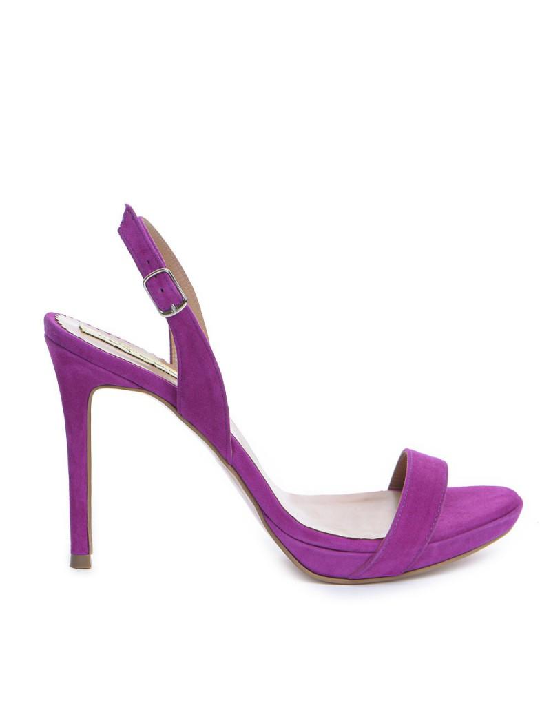 Sandale dama Fucsia Naked Piele Naturala - The5thelement.ro