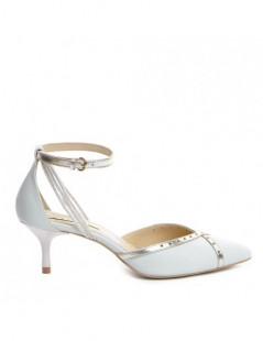 Pantofi Stiletto Piele Naturala ALB IVOIRE Rihanna - The5thelement.ro