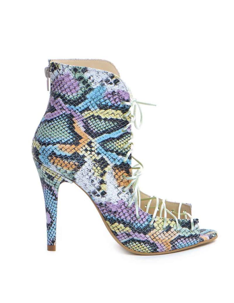 Botine dama decupate Street Style Snake Piele Naturala - The5thelement.ro