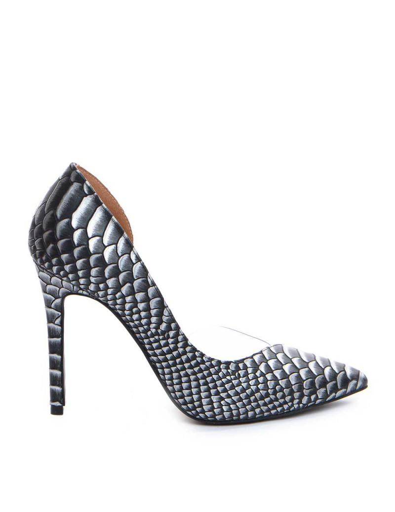 Pantofi dama Piele Naturala Negru Snake Leila - The5thelement.ro