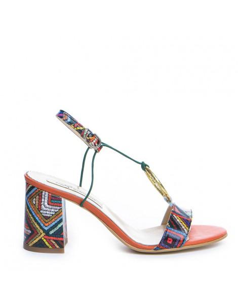 Sandale dama Orange sun...