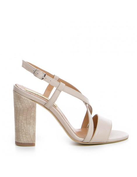 Sandale dama Yara Bej Piele...