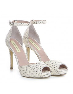 Sandale dama Piele Naturala Bej Sarpe Barbie - The5thelement.ro