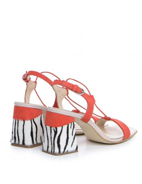 Sandale dama Piele Naturala Corai Tanya - The5thelement.ro