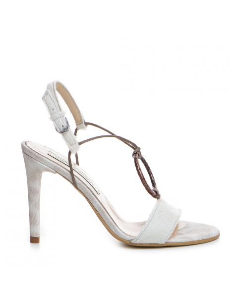 Sandale dama Alb Sun Piele...