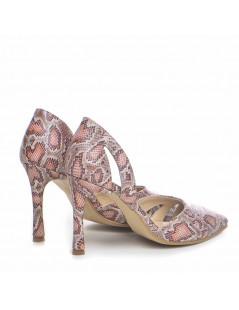 Pantofi Stiletto Piele Naturala Beige Zaira - The5thelement.ro