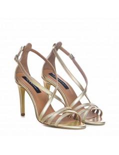 Sandale dama Auriu Riley Piele Naturala - The5thelement.ro