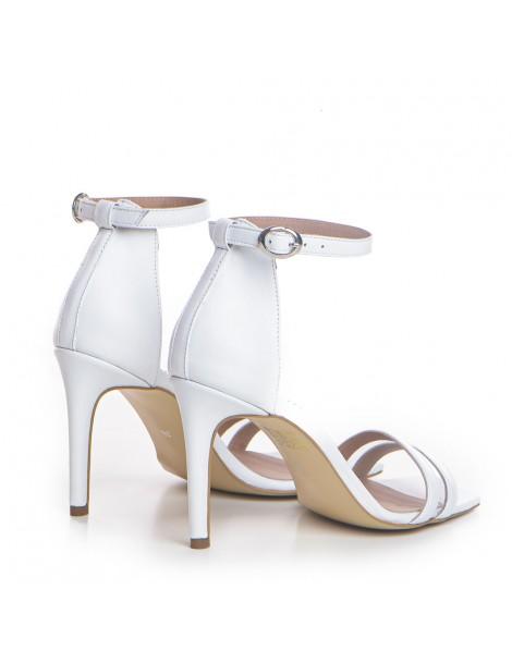Sandale dama Alb Eliza Piele Naturala - The5thelement.ro