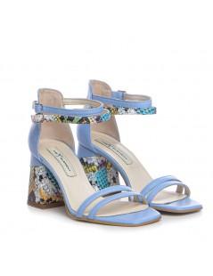 Sandale dama Bleu Lime Lara Piele Naturala - The5thelement.ro