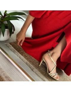 Sandale dama Rosu Riley Piele Naturala - The5thelement.ro