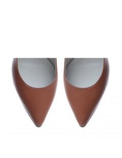 Pantofi Stiletto Piele Naturala  Cindy Camel - The5thelement.ro