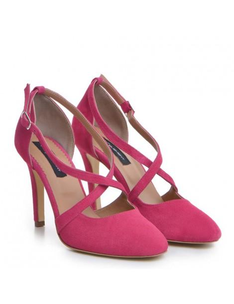 Pantofi Stiletto Piele Naturala Fuchsia Valentina - The5thelement.ro
