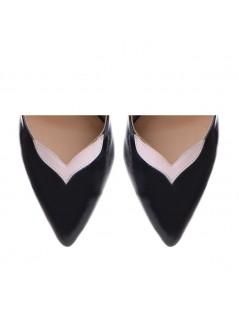 Pantofi Stiletto Piele Naturala Negru Birdie - The5thelement.ro