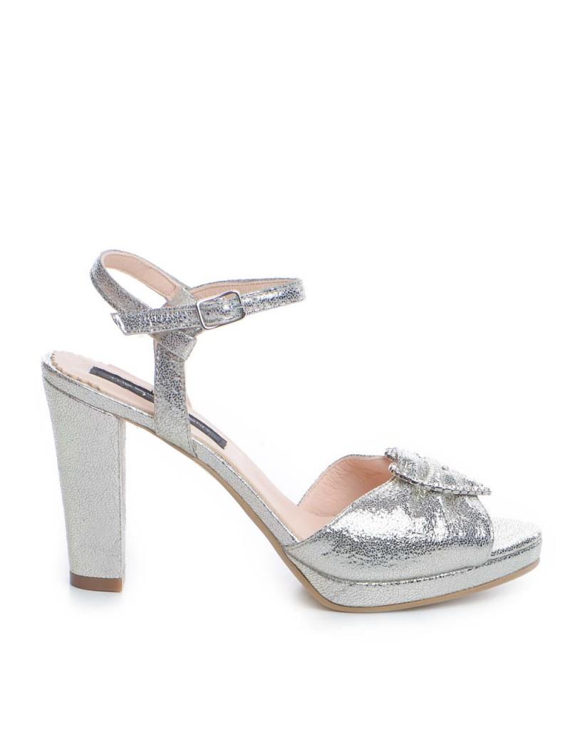 Sandale dama Argintiu Piele Naturala Love - The5thelement.ro