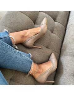 Pantofi Stiletto Piele Naturala Grej Lila Melanie - The5thelement.ro