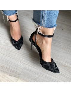 Pantofi Stiletto Piele Naturala Negru Camuflaj Rihanna - The5thelement.ro