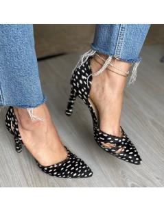 Pantofi Stiletto Piele Naturala Negru Zaira - The5thelement.ro