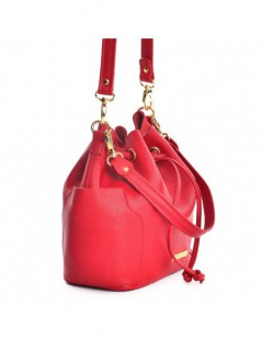 Geanta Dama Piele Naturala Summer Bucket Bag Red - The5thelement.ro