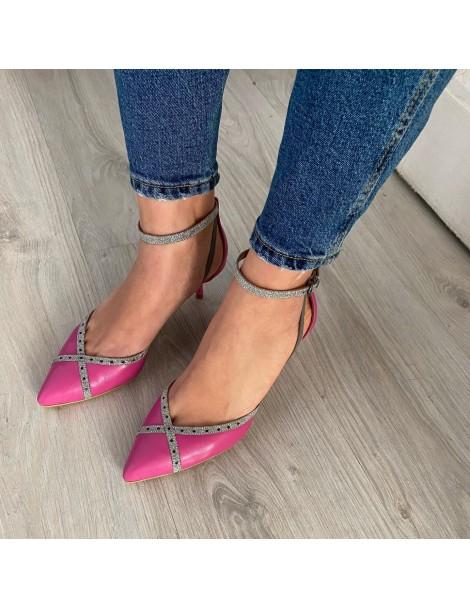 Pantofi Stiletto Piele Naturala Roz Rihanna - The5thelement.ro