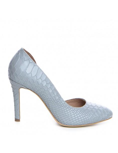 Pantofi Piele Naturala Gri...