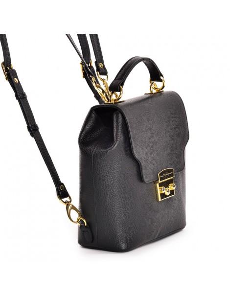 Geanta Dama Piele Naturala Minimal Backpack Black - The5thelement.ro