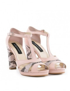Sandale dama Candy Rose Snake Piele Naturala - The5thelement.ro