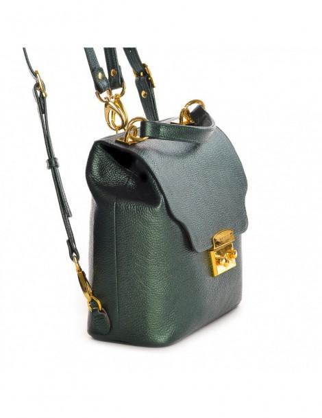 Geanta Dama Piele Naturala Minimal Backpack Green - The5thelement.ro