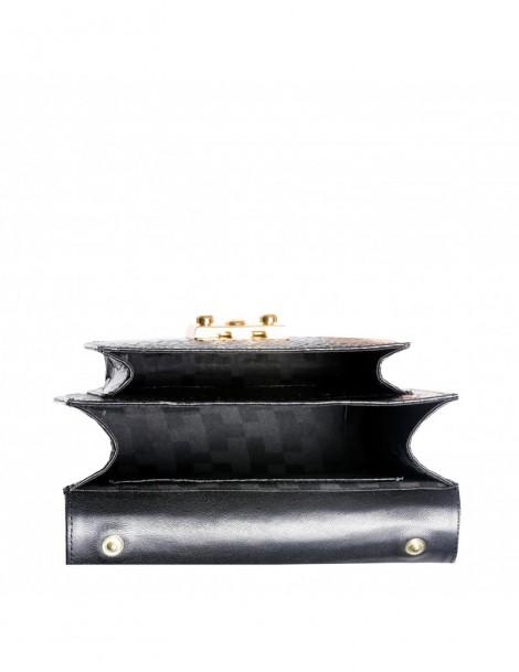Geanta Piele Naturala Dama Urban Bag Black Croco - The5thelement.ro