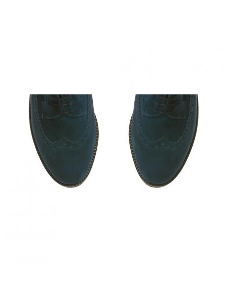 Pantofi dama Oxford Bleumarin Antilopa din Piele Naturala - The5thelement.ro