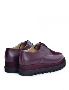 Pantofi dama Sport Burgundy din Piele Naturala - The5thelement.ro