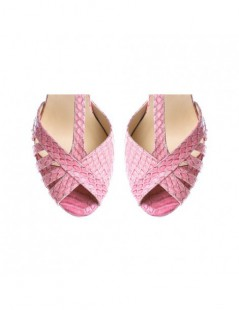 Sandale dama Rendez Vous Pink Piele Naturala - The5thelement.ro