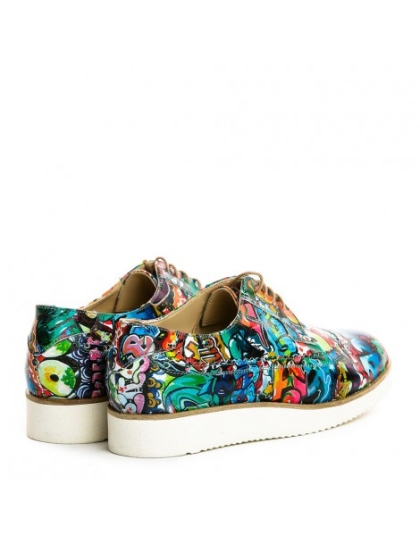 Pantofi dama Sport Graffiti din Piele Naturala - The5thelement.ro