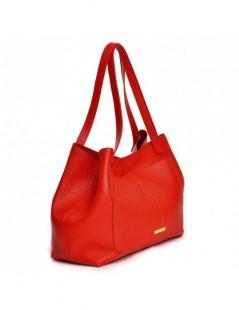 Geanta Dama Piele Naturala Shopper Red - The5thelement.ro