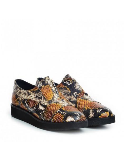 Pantofi dama Sport Snake Yellow din Piele Naturala - The5thelement.ro
