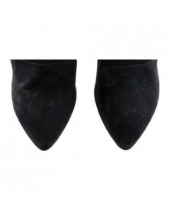 Ghete dama Piele Naturala Wrap Black - The5thelement.ro